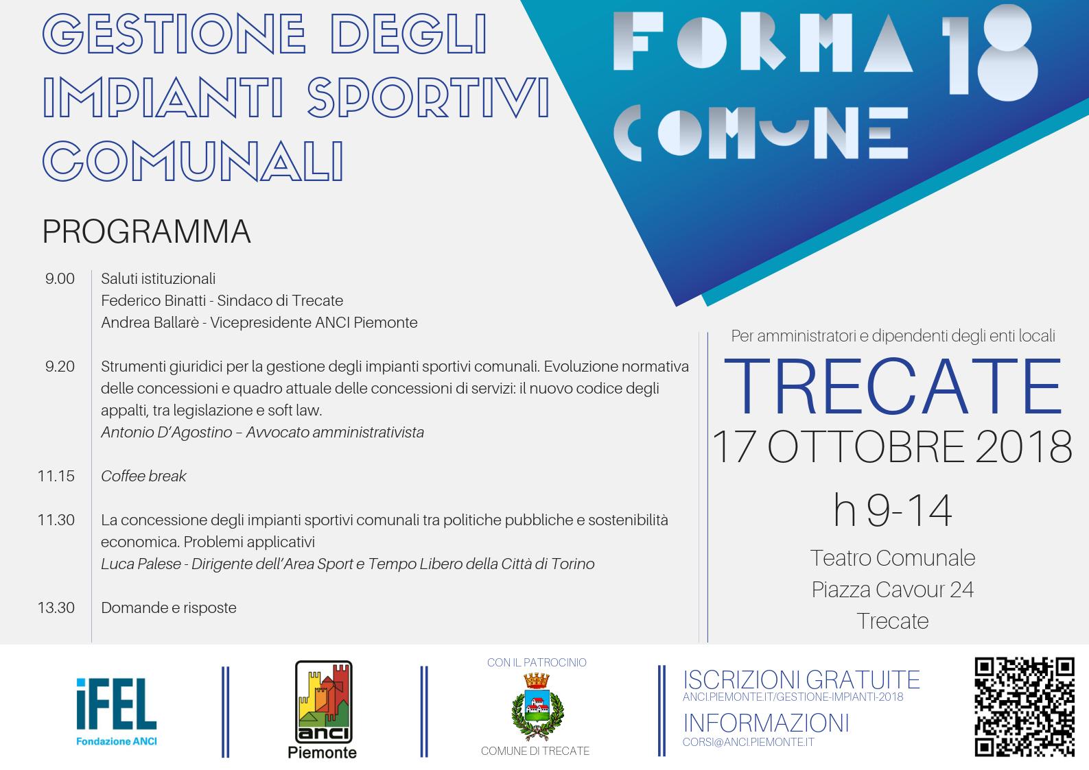 Forma Comune 2018 - Gestione degli impianti sportivi comunali - Trecate v3