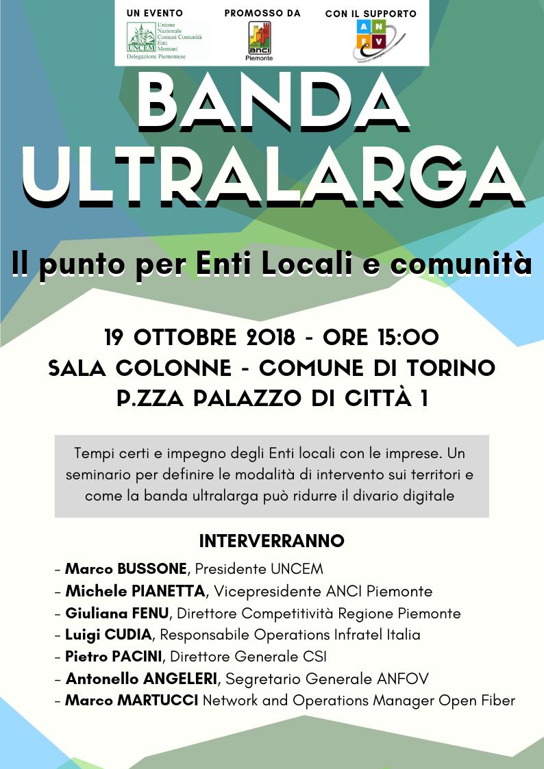 Banda Ultralarga. Il punto per Enti Locali e comunità