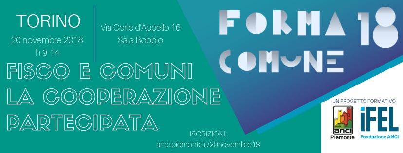 Forma Comune 2018 - Fisco e Comuni. La cooperazione partecipata