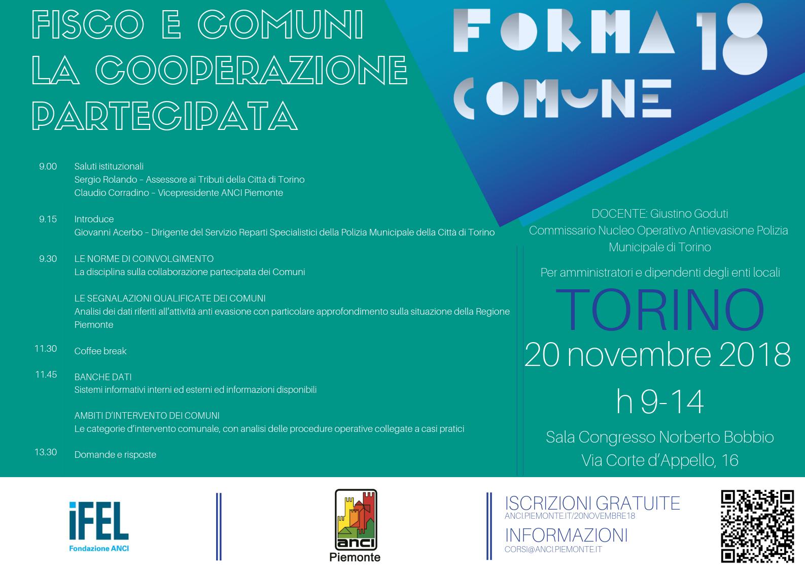 Forma Comune 2018 - Fisco e comuni_ la cooperazione partecipata V2