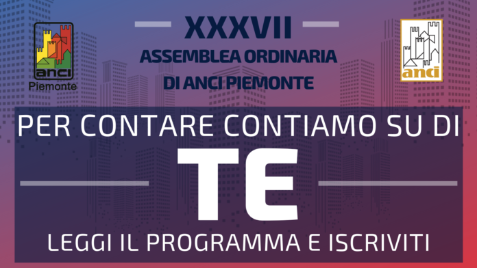 Save the date XXXVII Assemblea ANCI Piemonte