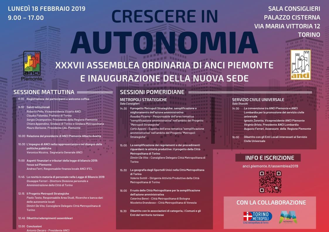 Immagine Programma assemblea ANCI Piemonte