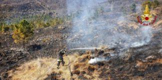 Incendio a Belmonte