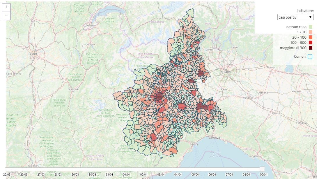 Regione Piemonte Cartina Politica.Coronavirus Ecco La Mappa Dei Contagi Comune Per Comune Anci Piemonte