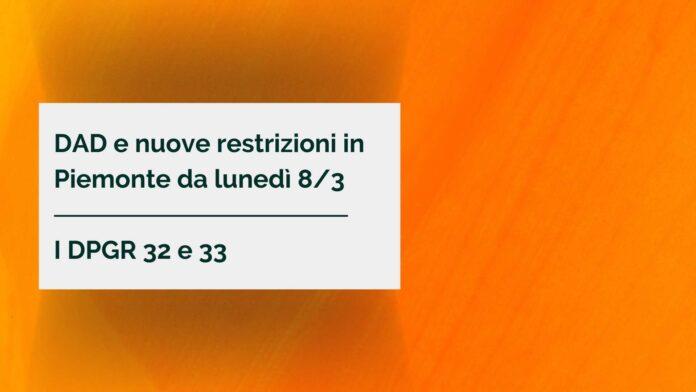 DAD e nuove restrizioni in Piemonte da lunedì 8_3