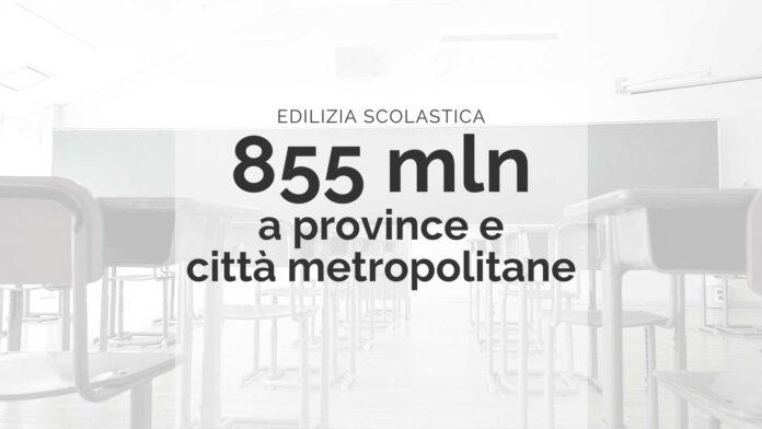 Edilizia scolastica_ 855 mln a province e città metropolitane