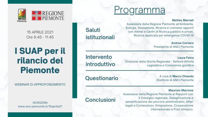 I SUAP per il rilancio del Piemonte v11
