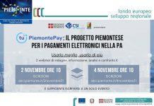 PiemontePAY indagine ANCI Piemonte 2 e 4 novembre